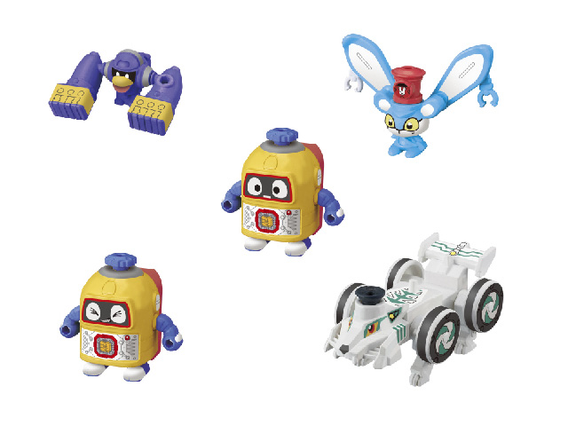 4種をセットにして!ヘボット! ガシャプラシリーズ vol.1
