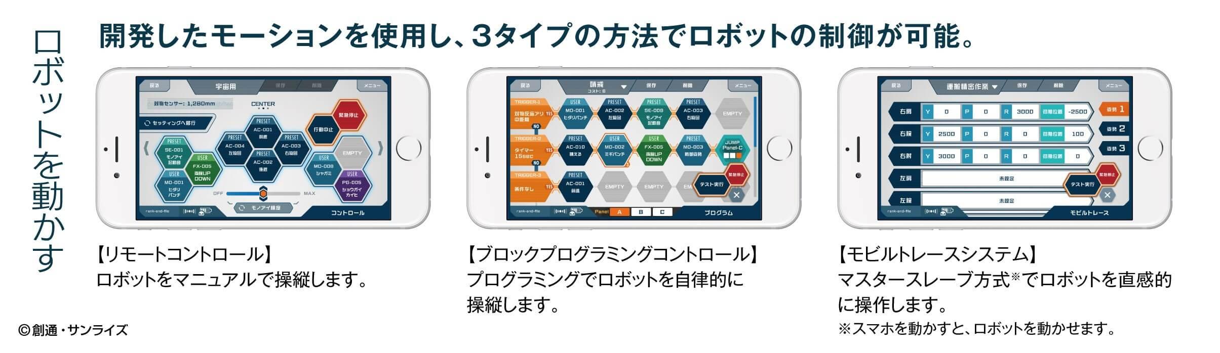 実際のアプリ画面 画像提供:バンダイ