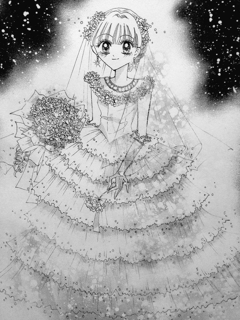 モノクロ絵 ちゃお イラストコンテスト かわいい女の子の絵を描いて