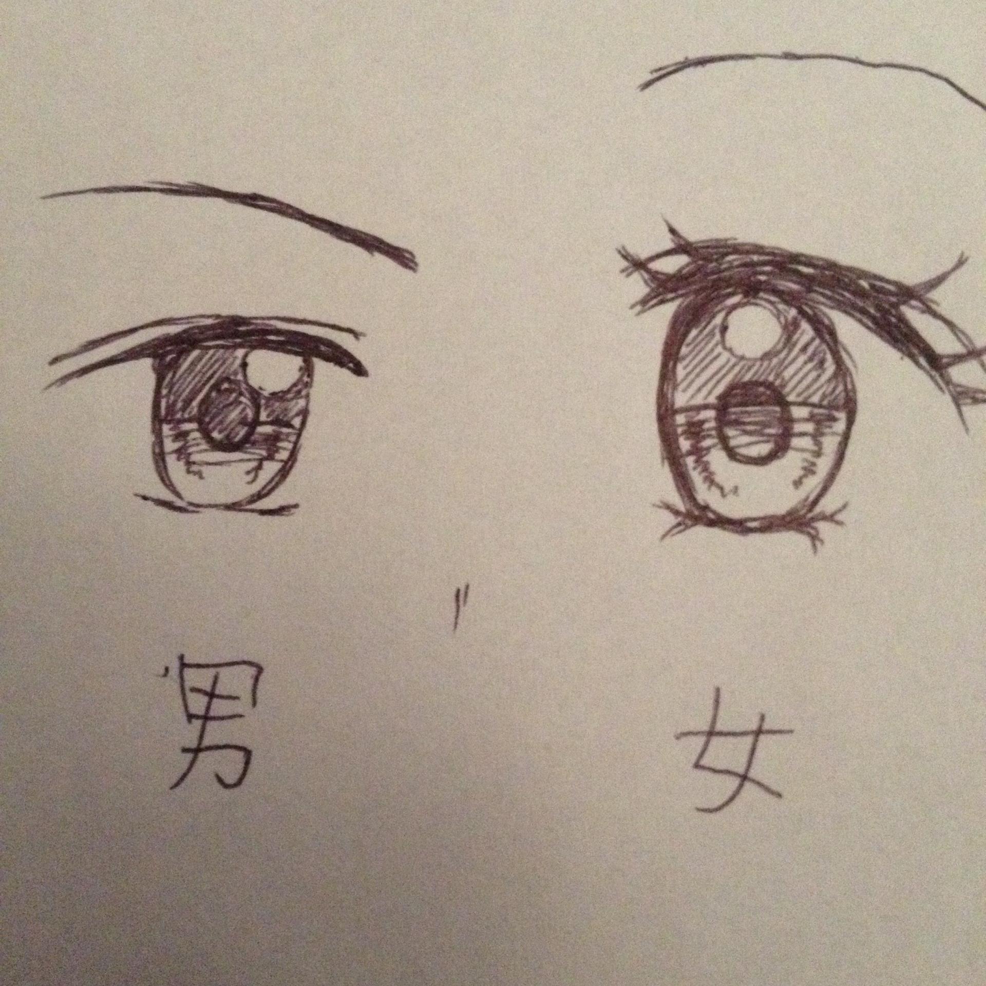 男の子/女の子の目 | 【ちゃおイラストレッスン③】かわいい目を描こう