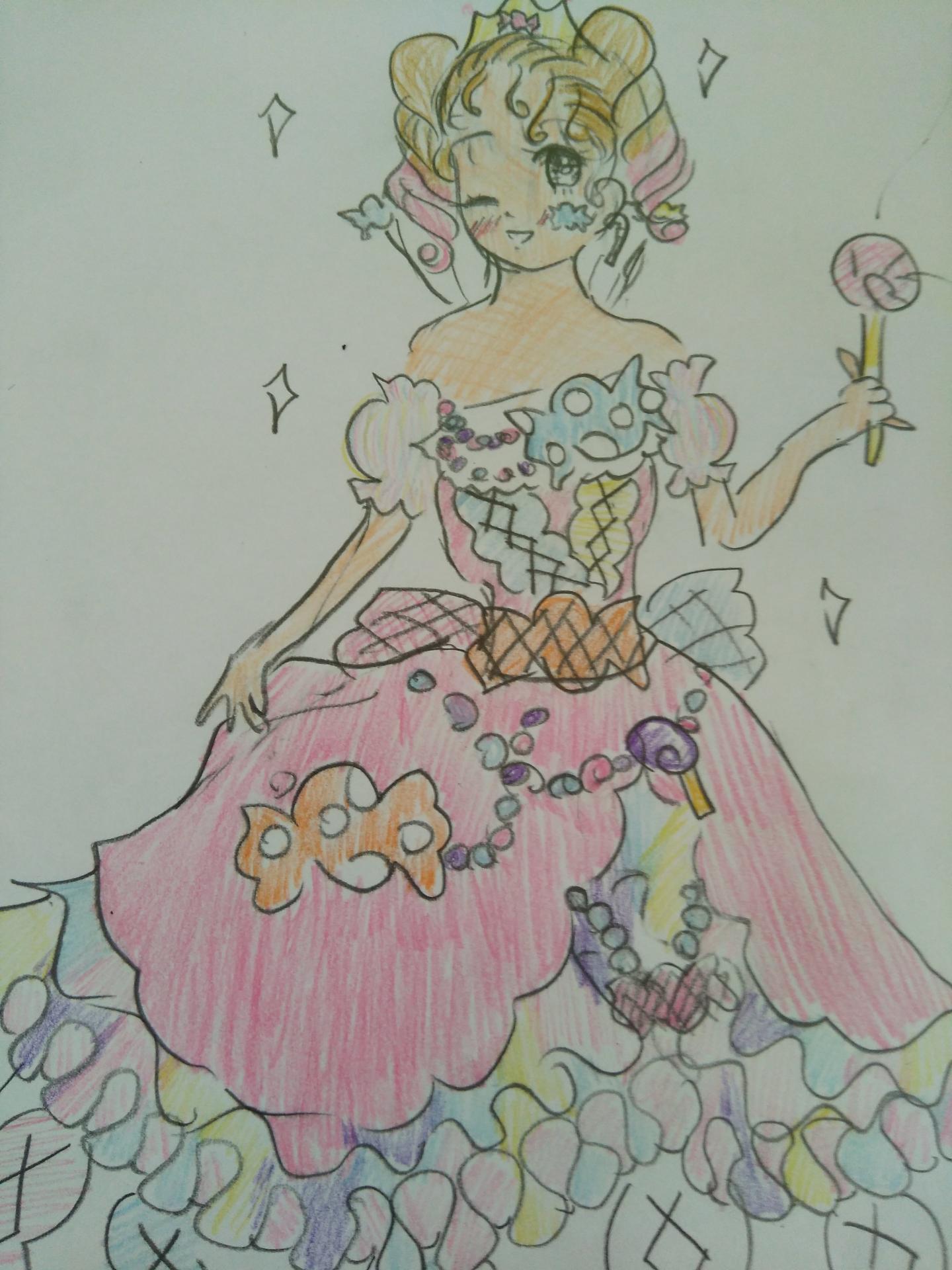 お菓子の少女 カラフル キャンディ プリンセス ちゃお