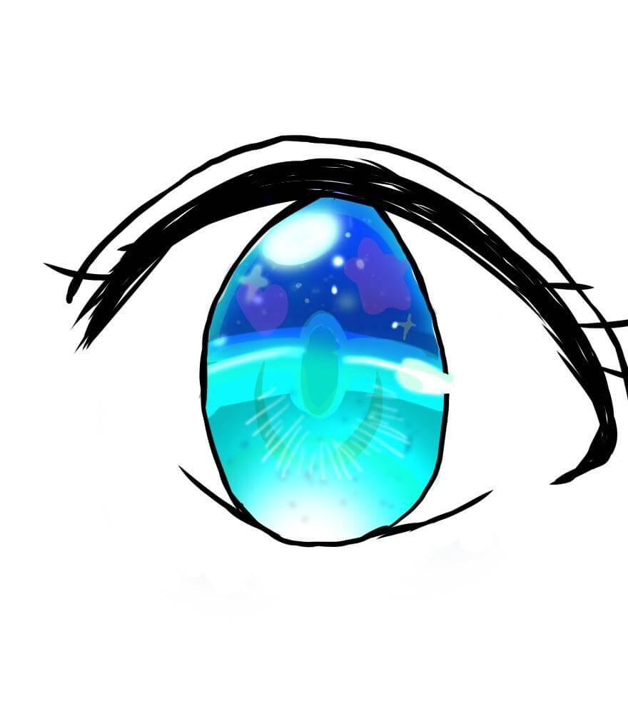 綺麗な目 ちゃおイラストレッスン2②キラキラのときめいた目を描
